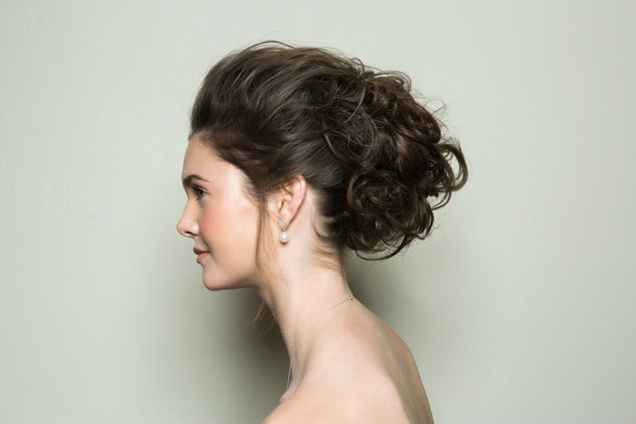 Bridal Hairstyle Step By Step: Glam Textured Messy Bun