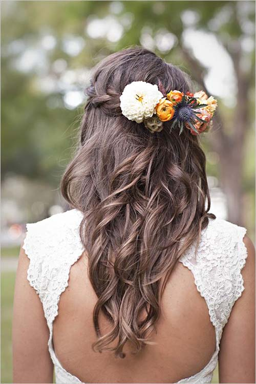 Wedding Hair Flower Ideas 7