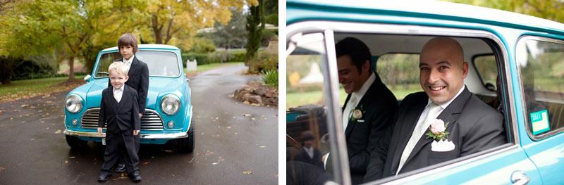 Wedding cars groomsmen