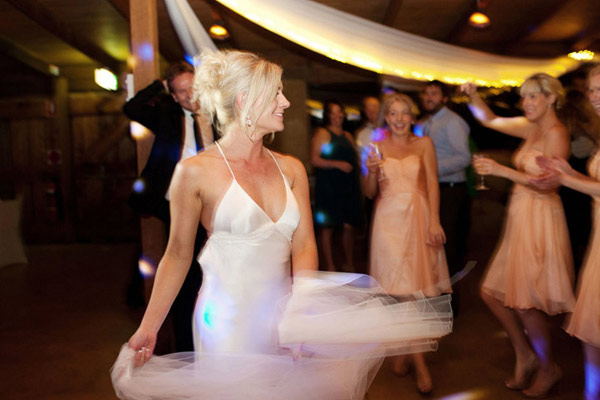 Bride dancing at Hunter Valley wedding reception