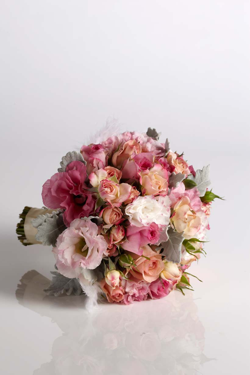 Wedding flowers-peach and white