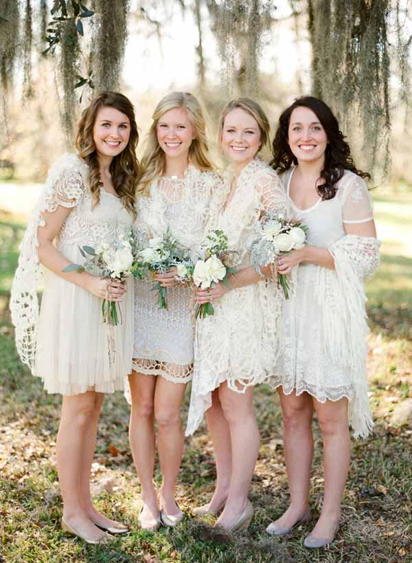 Bridesmaids-bohemian style