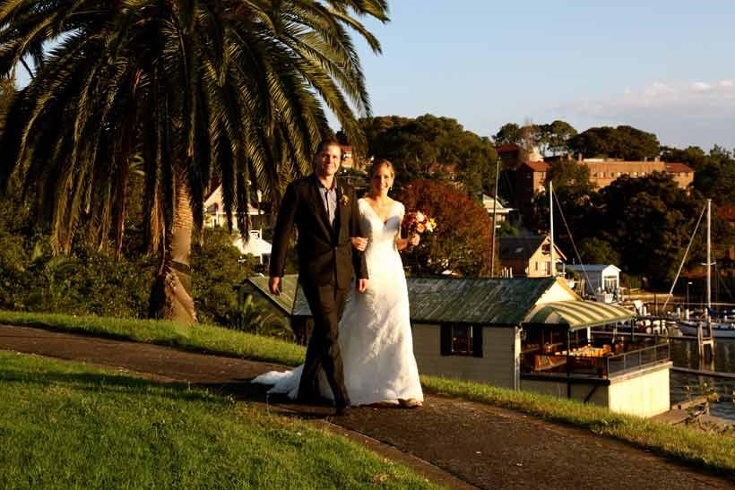 Bride and groom in Balmain, Sydney