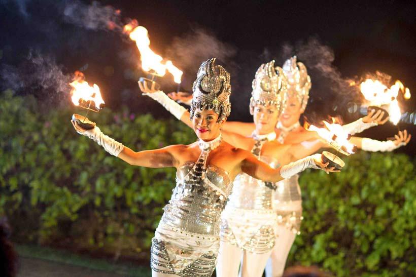 Dancers at Bali wedding
