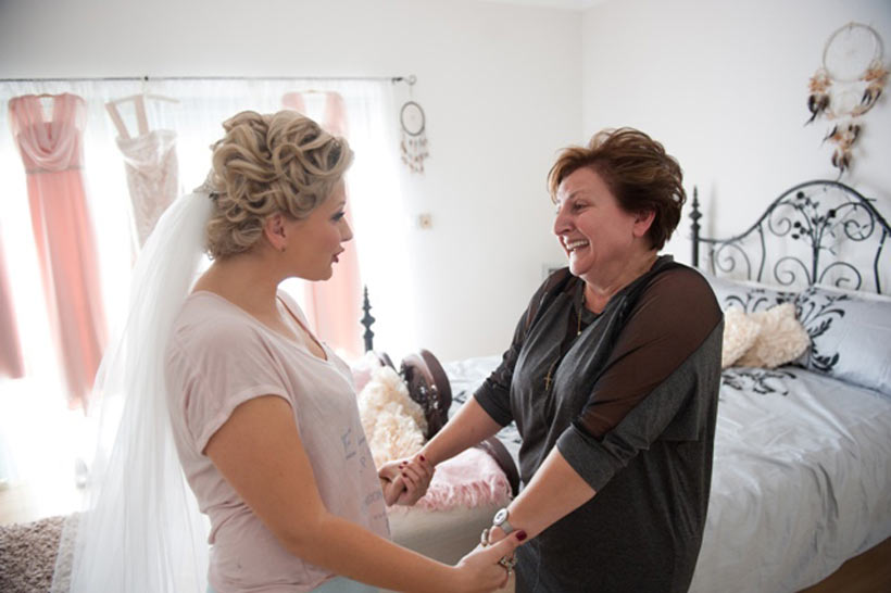 Danijela and her mum before the wedding