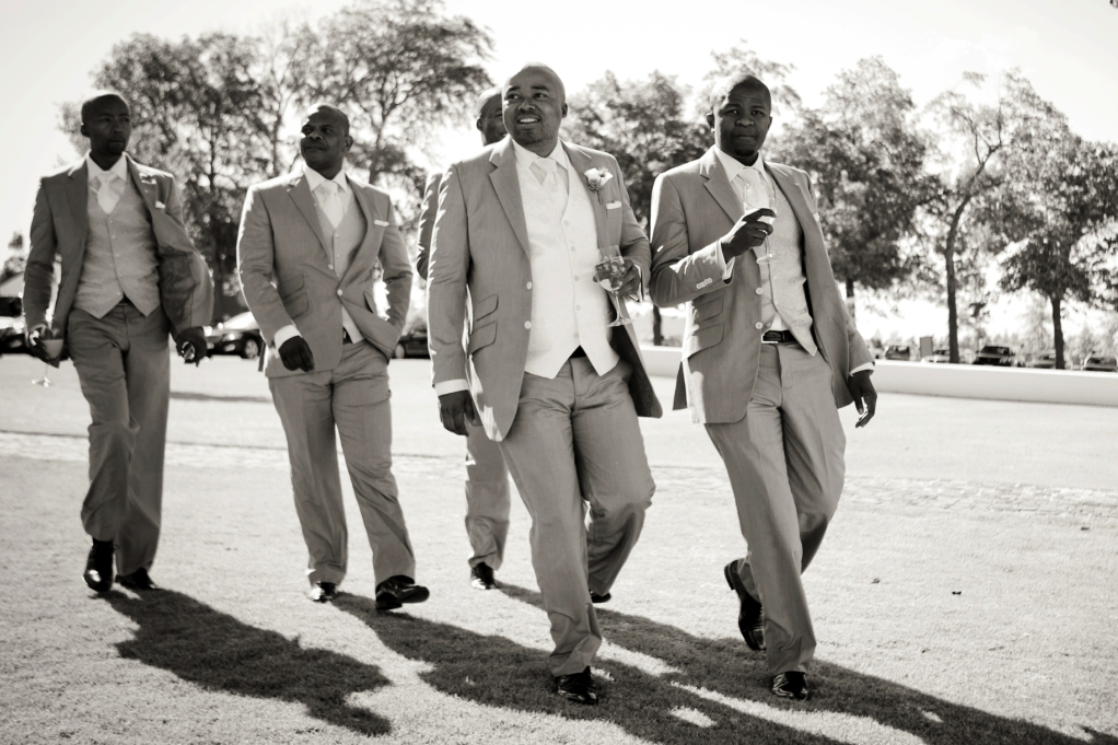 South African groomsmen