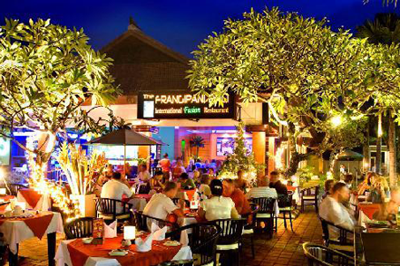 Dinner at one of the many restaurants at Bali Collections