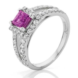Win a pink sapphire and diamond ring!