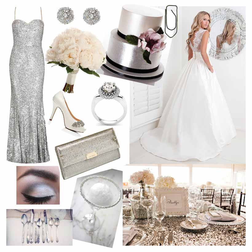 Glitz And Glamour Wedding Modern Wedding