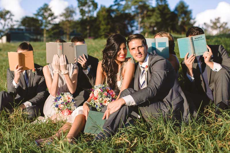 Wedding Photography with Books