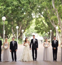 Wedding party in Hyde Park - At Dusk Photography
