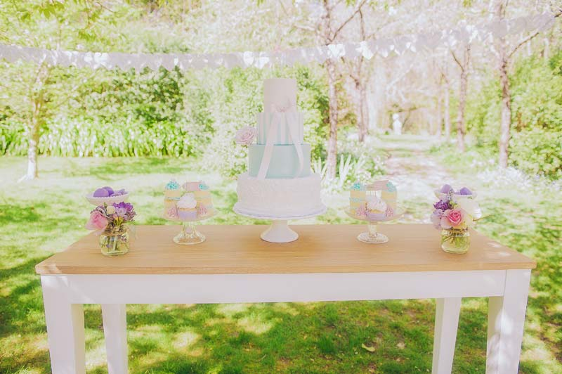 Cake Table at a Garden Wedding - cake by Couture Cakehouse Melbourne