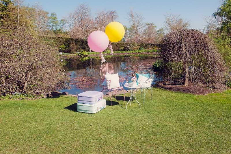Set up for a Garden Wedding