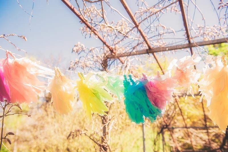 Decorations for a Garden Wedding