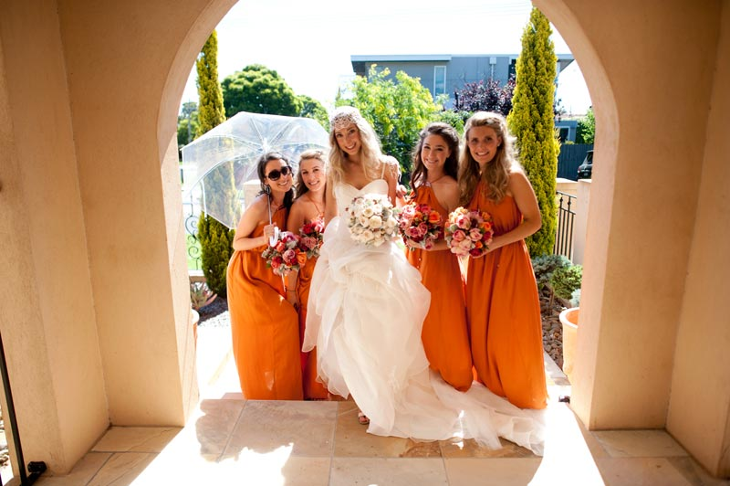 infinity photography bride and bridesmaids