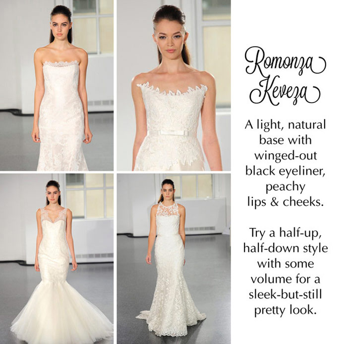 Reem Acra chose a perfectly pretty pastel palette and soft, romantic upstyle