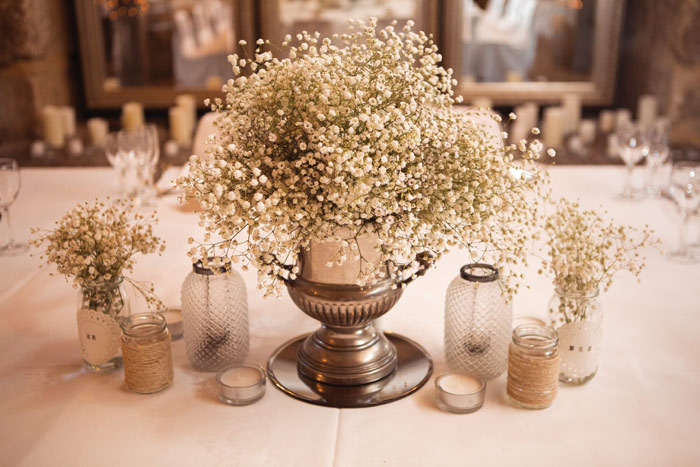 A romantic rustic wedding theme centerpiece flowers a rustic themed wedding junglespirit Gallery