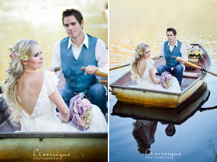 Wedding Photography Ideas - in a row boat