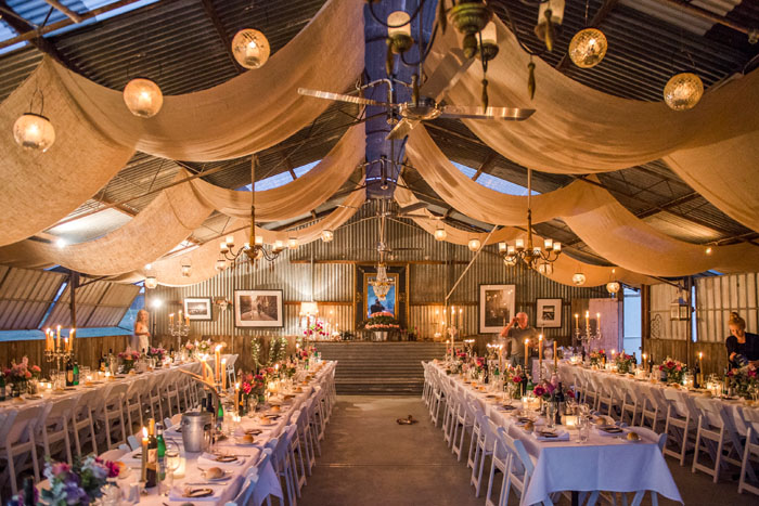 A Country Wedding in a Shed