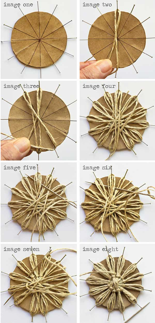 DIY Twine Flower Instructions