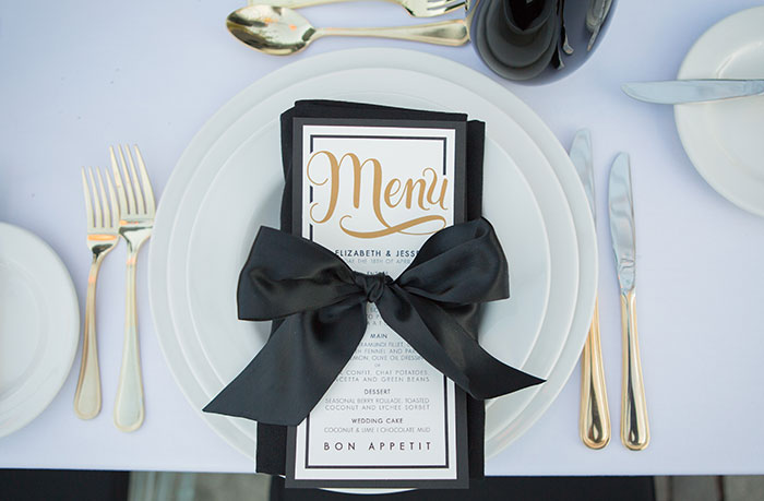 Black-and-Gold-Wedding-Place-Setting