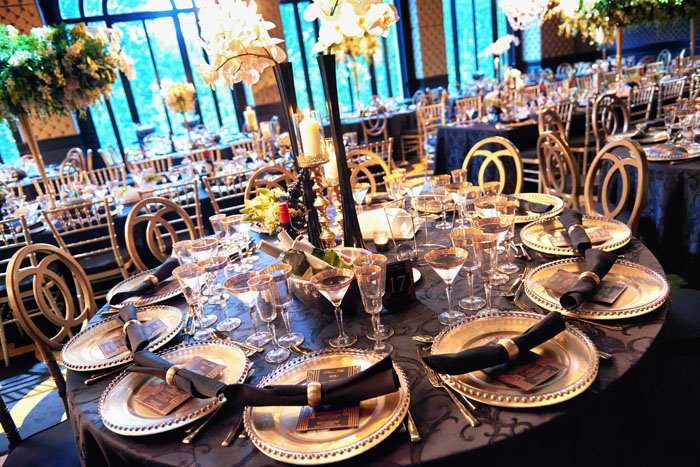Great Gatsby Wedding Table