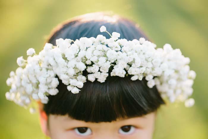 Flower Girl Babys Breath Crown