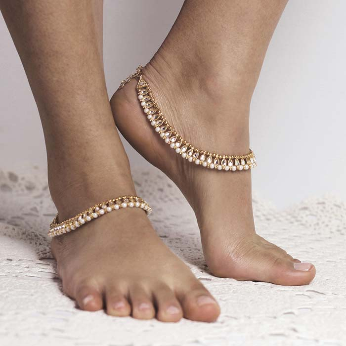 Shanti Gold anklet from Forever Soles