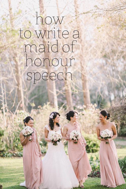 Write A Maid Of Honour Speech