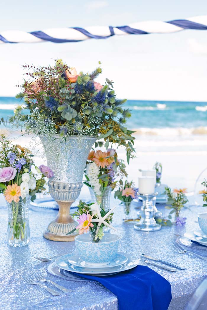 Beach Wedding Theme Table