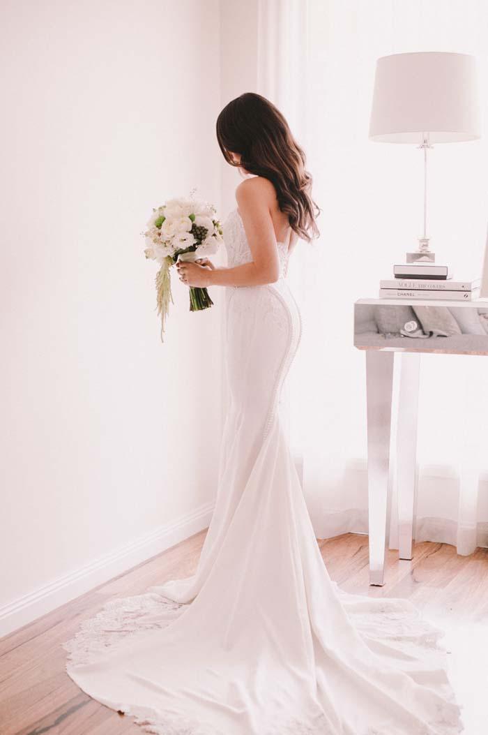 Bride Wearing Leah Da Gloria