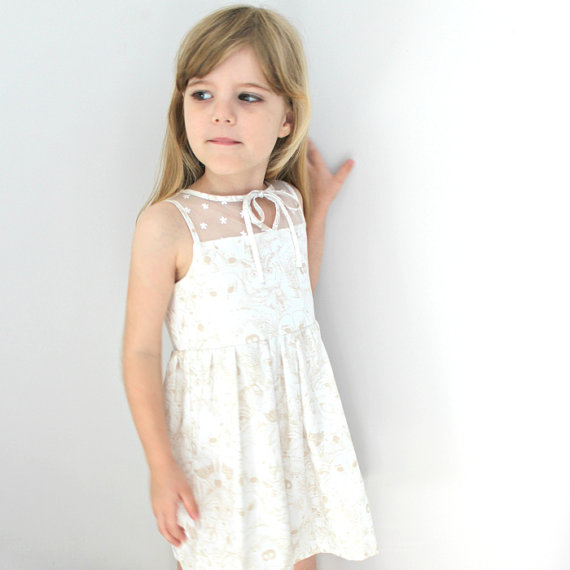 Flower Girl Dress Available at Ted and Toot on Etsy