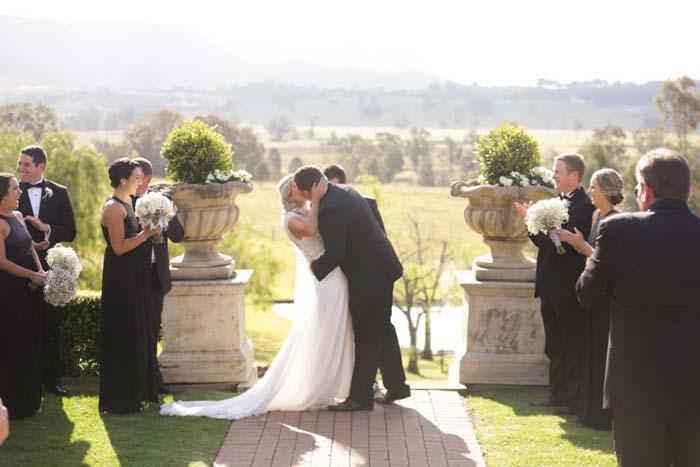 Wedding Kiss at The Sebel Kirkton Park