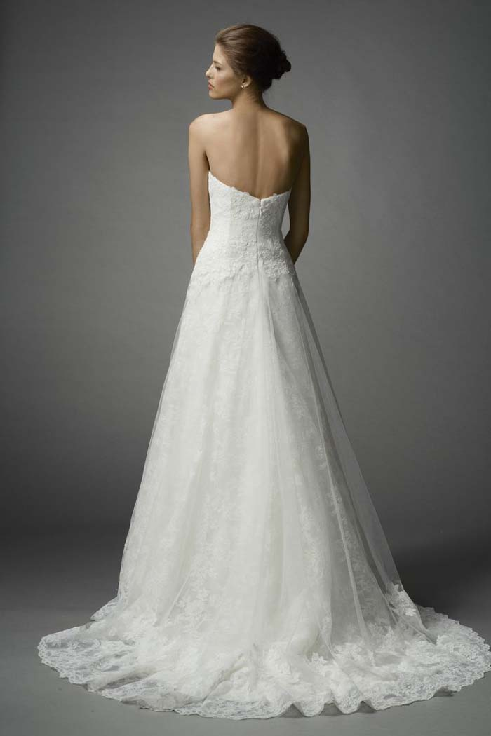 Watters Spring 2015 Farrin Gown Back