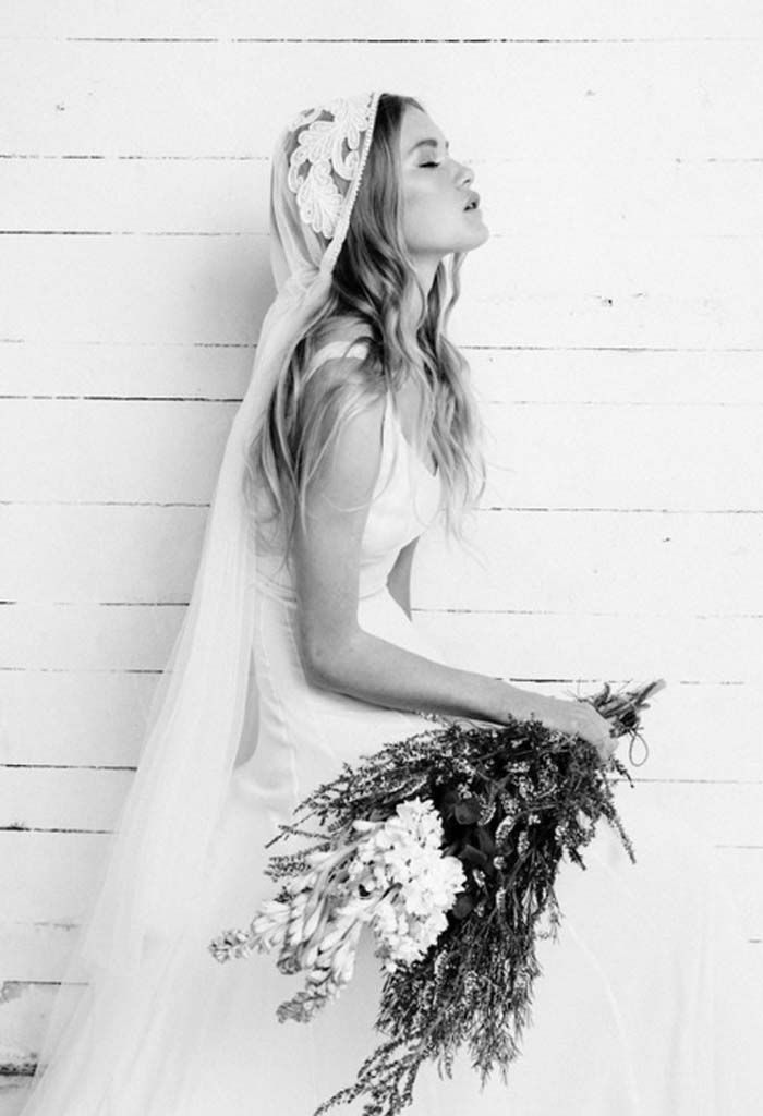 veil, weddings, wild flowers, bride, wedding dress