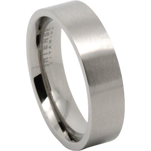 Titanium Satin Finish Mens Wedding Ring