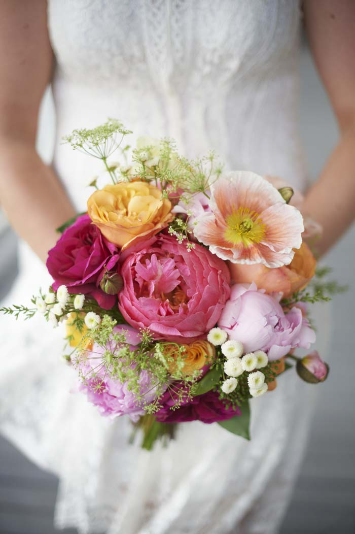 Bright Floral Wedding Bouquet