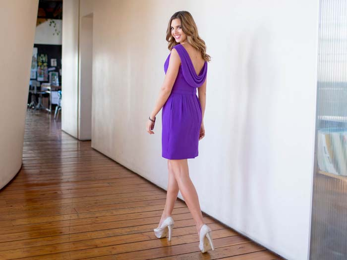Colour By Kenneth Winston Purple Bridesmaids Dress