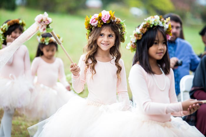 Unique flower girl ideas wands flower crowns