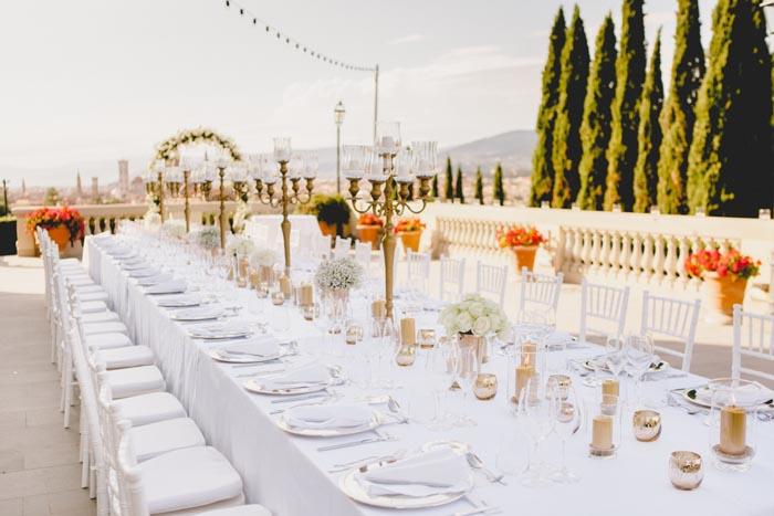 destination wedding florence place settings