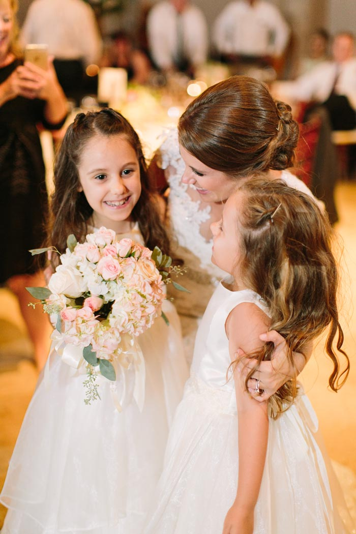 Timeless Wedding Texan Bell Tower Bride and Flower Girls