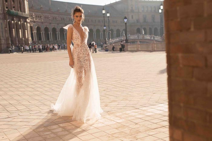 Barely There Bride , 10 Sheer Wedding Dresses We Love