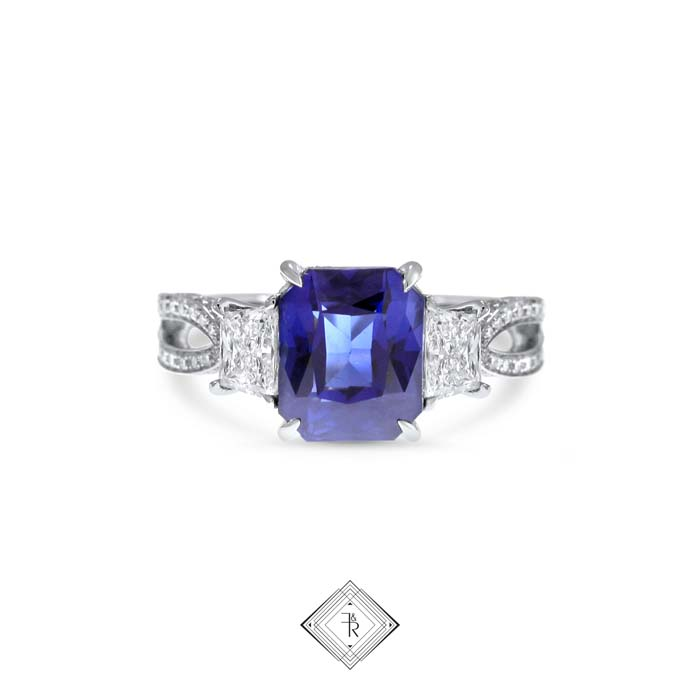 Sapphire engagement ring by fairfax and roberts