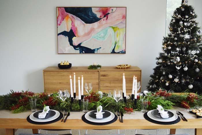 Christmas Table Styling Ideas Inspiration Modern Wedding