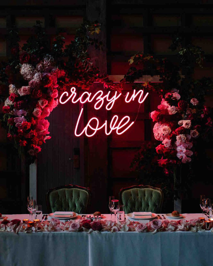 Creative Couple Wedding Signs and One-Liners, Neon Wedding Sign 8