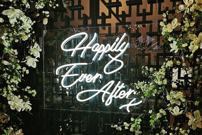 Creative Couple Wedding Signs and One-Liners, Neon Wedding Sign 11