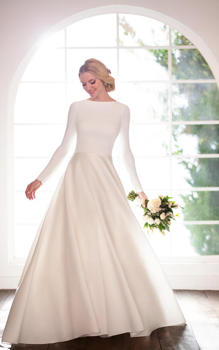 long sleeve regal wedding dress