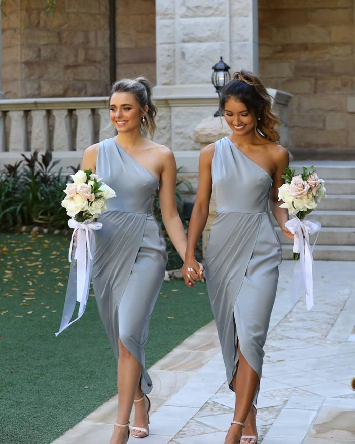 one shoulder bridesmaids dresses