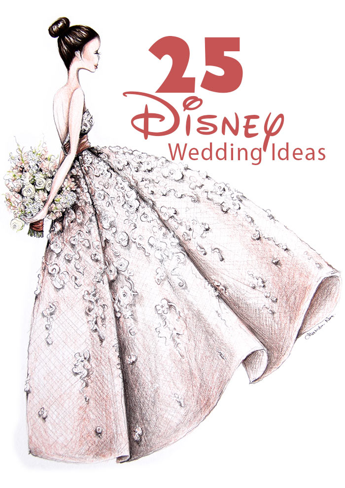 Brilliant 25 Magical Disney Wedding Ideas Modern Wedding Home Interior And Landscaping Eliaenasavecom